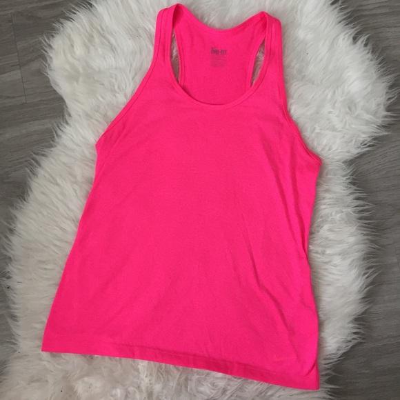Nike Dri Fit Workout Tank Top Hot Pink